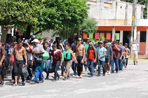 Hay Grupos Delictivos Infiltrados en Caravana Migrante, Dice Segob