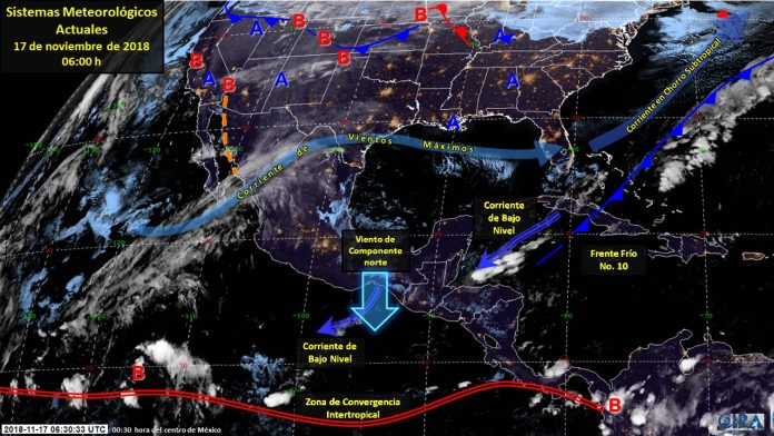 Pronostican Fuertes Vientos en el Istmo y el Golfo de Tehuantepec