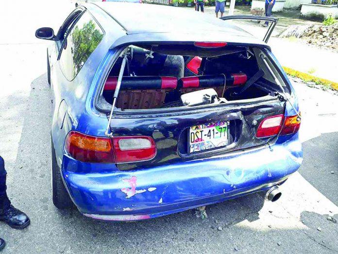 Pegó por Alcance y Provoca Daños a un Honda