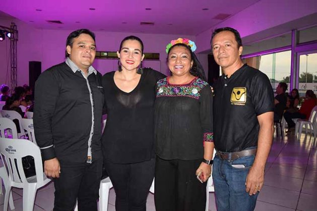Staff del CIJ Tapachula: Miguel Ángel Mancera, Gaby Gamboa, Ana Lidya Ovando, Freddy Hernández.