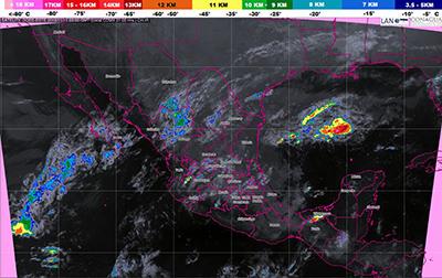 Frente Frío No. 9 Causará Tormentas en Chiapas, Oaxaca y Veracruz: SMN