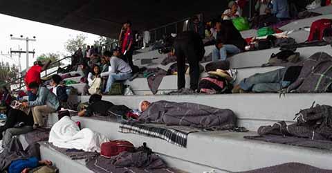 Llegan a CDMX los Primeros mil Migrantes de la Caravana