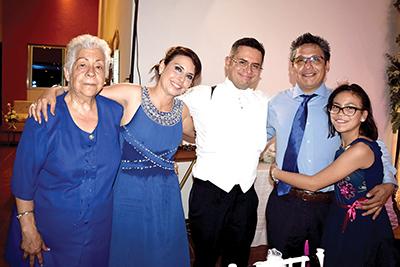 Isabel Domínguez, Mary Carmen, Carlos Bastida, Feliciano Pastrana, Gabriela Pastrana.