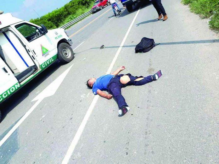 Muere Motociclista al Chocar de Frente Contra Repartidor de gas
