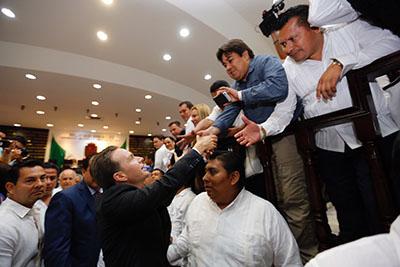 Ante el Pleno del Congreso del Estado de Chiapas Rinde Manuel Velasco Sexto Informe de Gobierno
