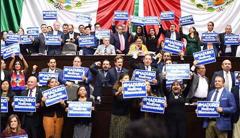 Confronta a Diputados Invitación de AMLO a Maduro en Toma de Protesta