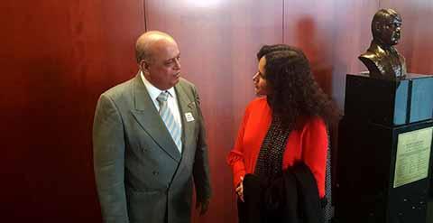 Se Reúne el Rector de la UNACH con Presidenta de la Comisión de Cultura de la Cámara Alta