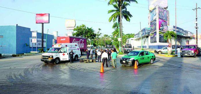 Taxista del Sitio 1º de Mayo Atropella a Motociclista