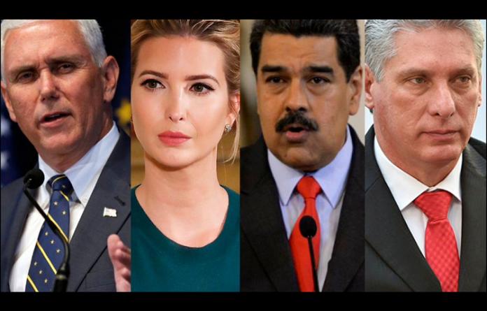 Nicolás Maduro, Evo Morales, King Yong, Jimy Morales, Felipe VI e Ivanka Trump