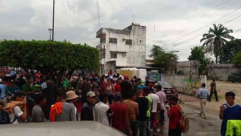 Arriba la Caravana Migrante a Huixtla
