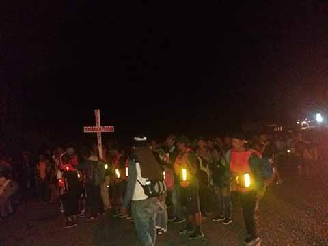 A las 3:00 de la Mañana Salió la Cuarta Caravana de Huixtla a Mapastepec