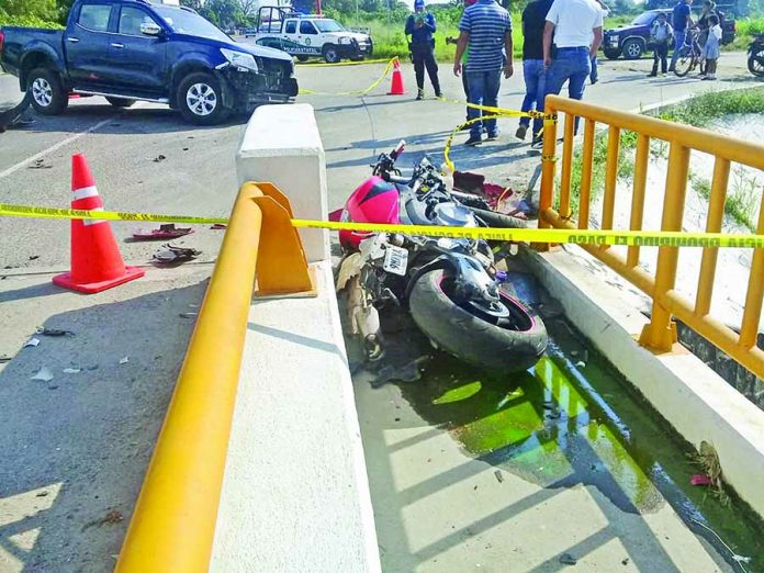 Fuerte Accidente Entre Camioneta y Motociclista