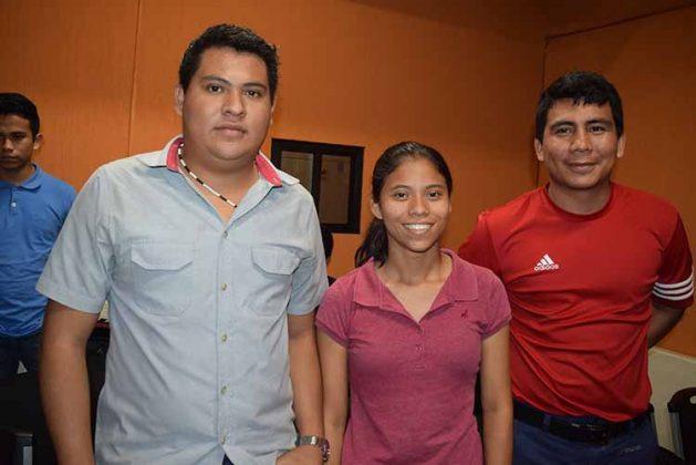 Blanca Castillejos, Erick Hernández, Daniel Morga.