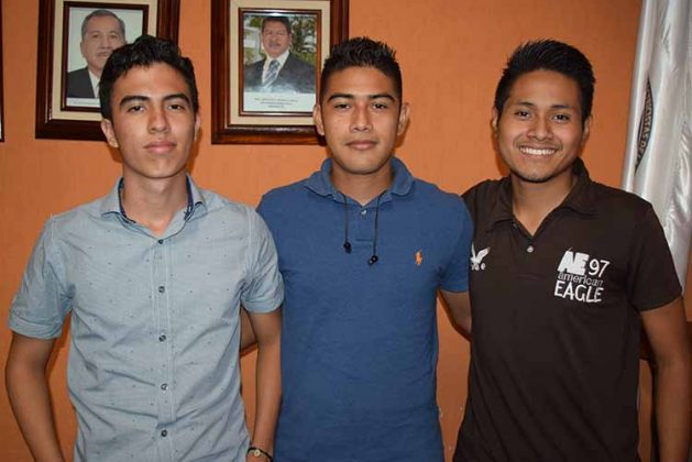 Héctor Sánchez, Luis Manahén, Mario Martínez.