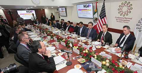 La Conferencia Nacional de Gobernadores y la Asociación Nacional de Gobernadores de Estados Unidos de América trazan rutas para potenciar el nuevo tratado comercial