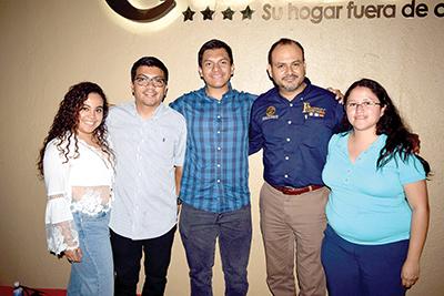 Melissa Lucero, Nelson Castillo, Pierre Chirix, Lourdes Castro.