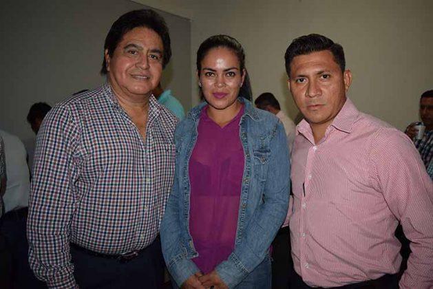 Alfredo Alonso, Lourdes Gómez, Gabriel Ventura.