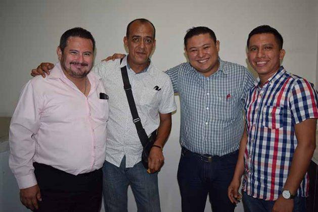 Alberto Meza, Luis García, Freddy Soto, Luis López.