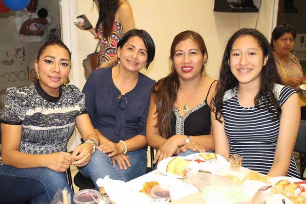 Samantha López, Aury Hernández, Dalia Camilo, Karla Rodríguez.