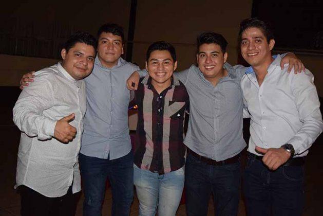 Gustavo Mendoza, Cristobal Rodríguez, Diego Fuentes, Daniel García, Francisco Arteaga.