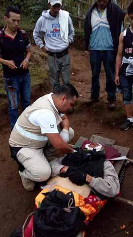 Rescatan a Excursionista Accidentado en el Volcán Tacaná