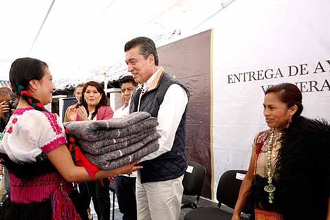 Entrega Rutilio Escandón Ayuda Humanitaria a Municipios Afectados por Bajas Temperaturas