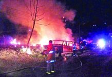 Camioneta Incendiada Quedó Reducida a Chatarra