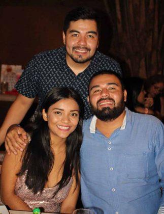 Cesia Castrejón, Bruno, Carlos Bustamante.