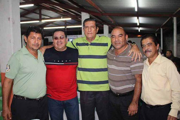 Hedi Cárdenas, René Orellana, Erwing Aguilar, José Martínez, Francisco Reyes.