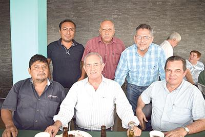 Armando Gómez, Carlos Capri, David Ibarra, Alberto Aguilar, Vicente Landeros, Luis Gordillo.