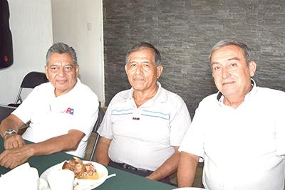 Sergio Sánchez, Mario Cota, Andrés Cano.