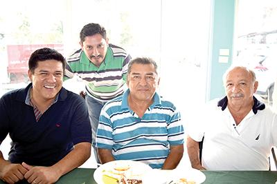 Christian Cruz, Gildardo Muñoz, Francisco Ayala, Wilder Martínez.