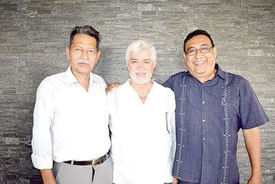 Enrique Solís, Horacio López, Martín Ruiz.