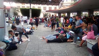 Empresarios Chiapanecos Reportan Bajas Ventas por Caravana Migrante