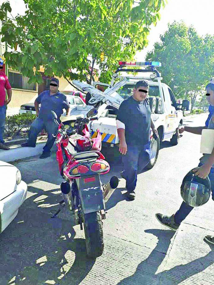 Motociclista Chocó por Alcance