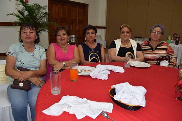 Idelma Villagrán, Miscis Rodas, Ana Cecilia Villatoro, Elizabeth Zapien, Virginia Espinosa.