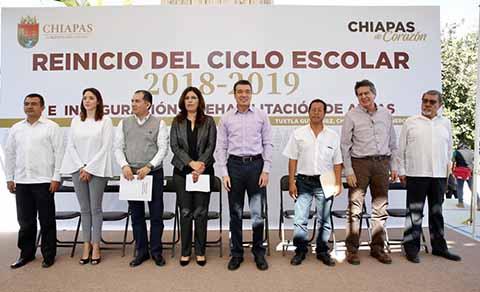 Rutilio Escandón Encabeza Reinicio de Clases e Inaugura Nueva Infraestructura Educativa