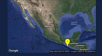 Otro Intenso Sismo Sacude la Costa de Chiapas
