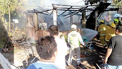 Fuego Consume Vivienda en Puerto Madero