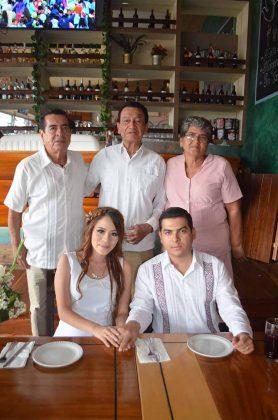 Salvador Ventura Rodríguez, Antonio Cueto Citalán, Esther Vázquez de Ventura, Hannia Castro, Diego Ventura.