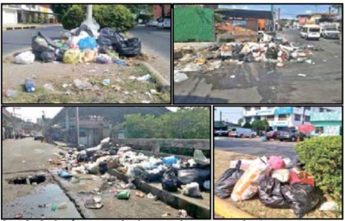 La ciudadanía cansada de que el carro recolector no pase por sus colonias desde hace varios días, decidieron tirar la basura en calles y banquetas de diversos sectores de la ciudad.