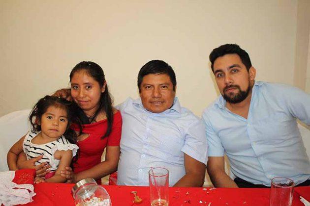 Mayra, Dulce, Ángel Mejía, Francisco Contreras.
