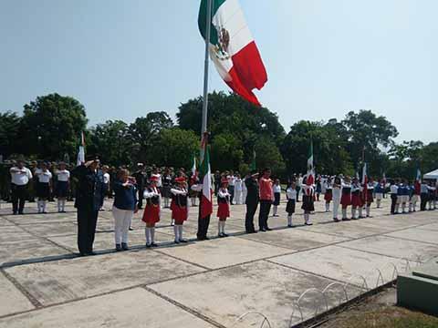 36ª Zona Militar Realizó Abanderamiento de Instituciones Educativas