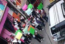 Estudiantes, Padres de Familias y Maestros Realizan Marcha en Huixtla
