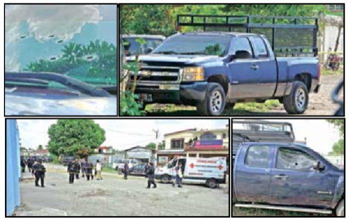 En el vehículo quedaron plasmados los orificios que dejaron las armas de alto poder, con las que los delincuentes quitaron la vida a Froilán Argueta. Otra víctima más de la inseguridad.