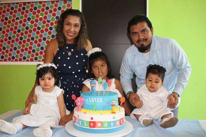 Germán, Luisa & Geysel Cordero fueron celebrados por sus padres Luis Cordero & Herminia Jarquín