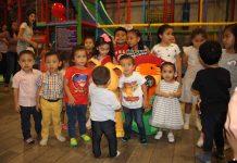 Enrique Ziehl celebró con sus amiguitos su tercer cumpleaños.