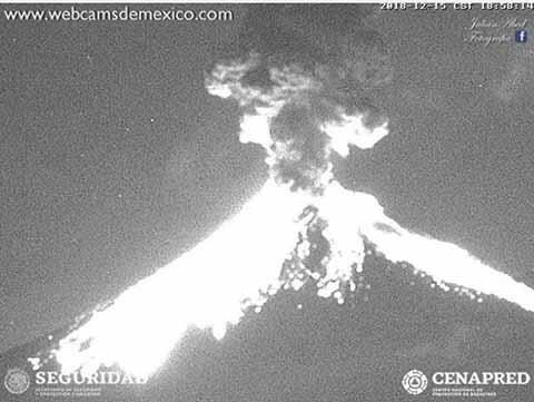 Fuerte Explosión Registra el Popocatepetl