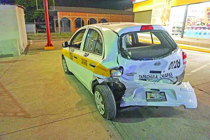 Accidente en la Entrada Principal de Santa Clara