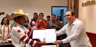 Entregan Constancia de Mayoría a las Autoridades Electas de Oxchuc